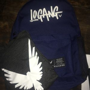 Logan Paul long sleeved shirt and backpack